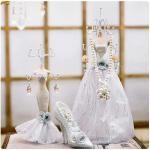 Abocos Dress Jewelry Hanging ตุ๊กตาแขวนเครื่องประดับ set 4