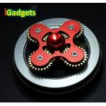 Hand Spinner เฟือง 4 แฉก งานอลูมิเนียม เกรดพรีเมี่ยม (สีแดง)