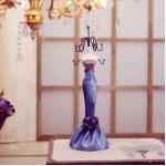 Abocos Dress Jewelry Hanging ตุ๊กตาแขวนเครื่องประดับ ชุดราตรีโทรสีม่วง ตัวใหญ่