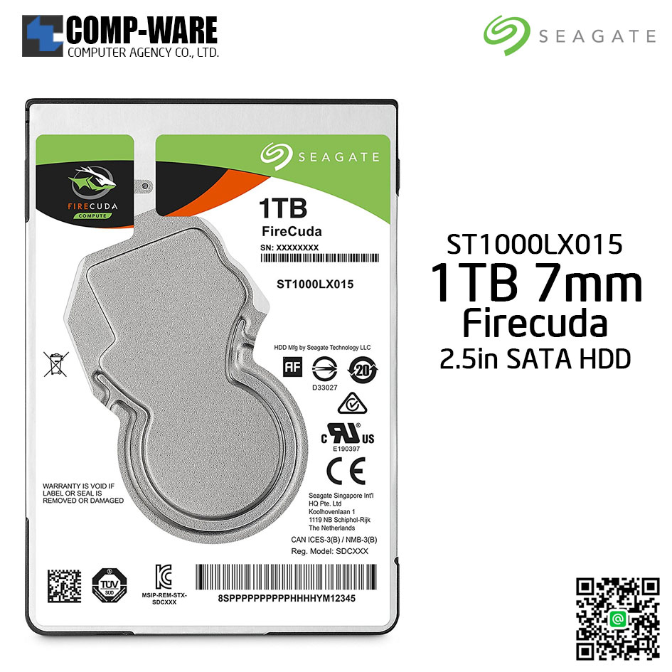 Seagate 1TB Firecuda Gaming 2.5-Inch SATA 6GB/s 5400rpm 128MB Cache Internal Hard drive ST1000LX015