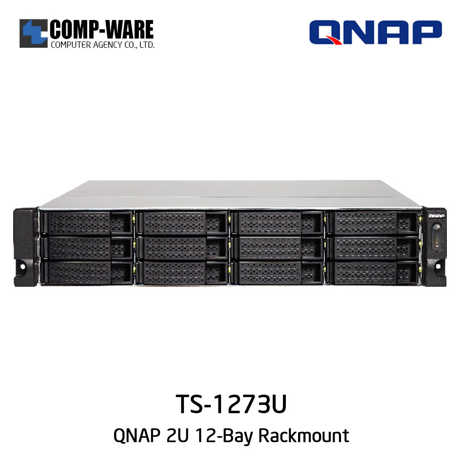 QNAP NAS (2U 12-Bay) TS-1273U (64GB RAM) Single Power Supply