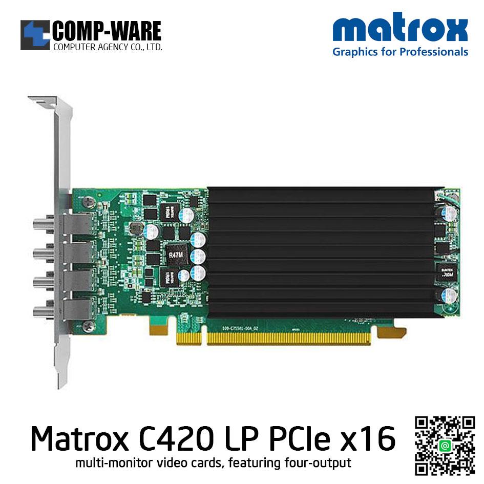Matrox C420 (C420-E2GBLAF) 2GB GDDR5 PCI Express 3.0 x16 Low Profile Workstation Video Card Quad Monitor Video Card