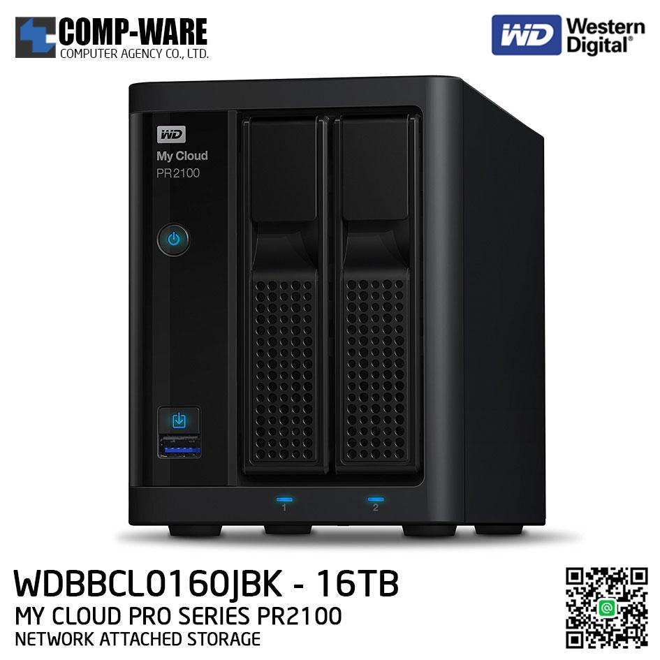 WD 16TB My Cloud Pro Series PR2100 2-Bay Network Attached Storage - WDBBCL0160JBK-SESN
