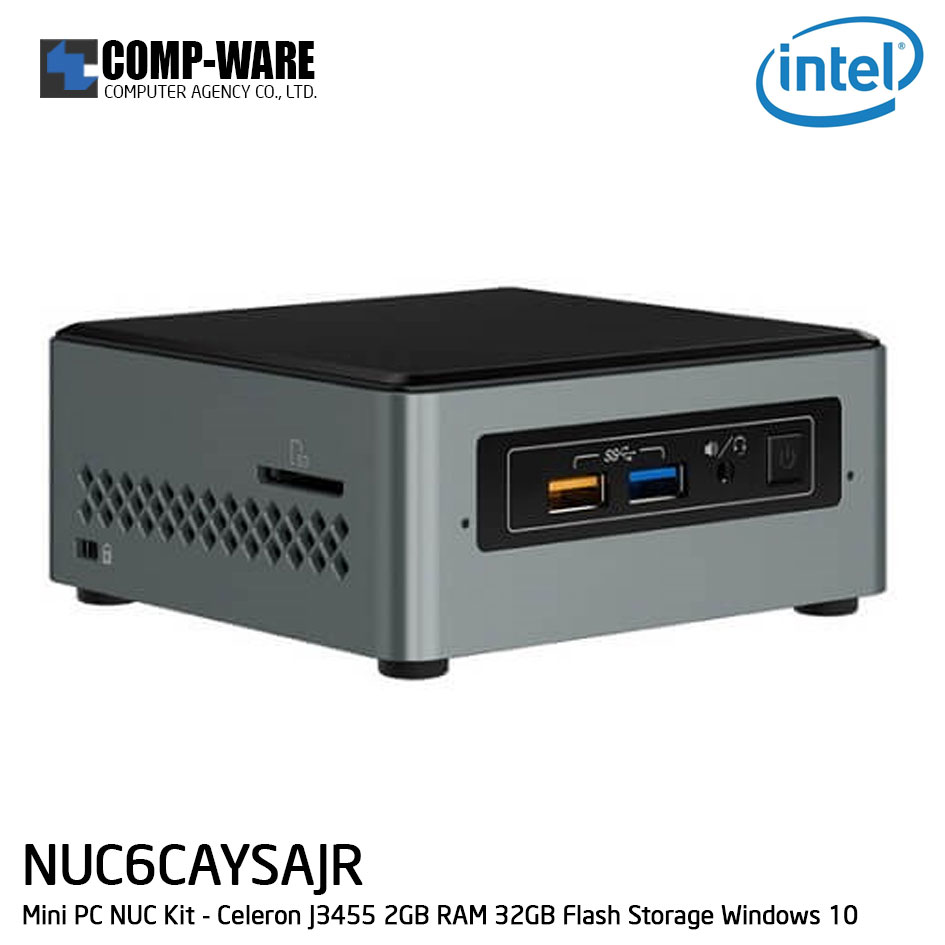 Intel NUC6CAYSAJR Mini PC NUC Kit - Celeron J3455 2GB RAM 32GB Flash Storage Windows 10