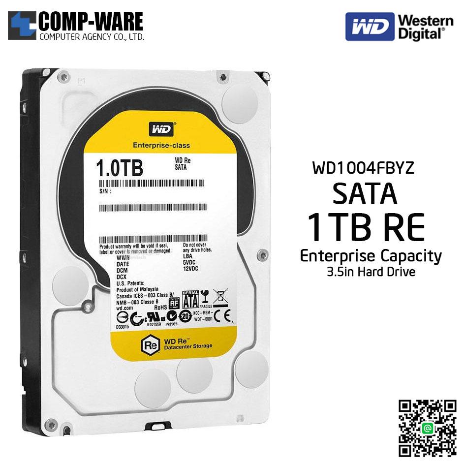 WD RE 1TB Enterprise Class Hard Drive 7200RPM SATA 6Gb/s 128MB Cache 3.5Inch - WD1004FBYZ