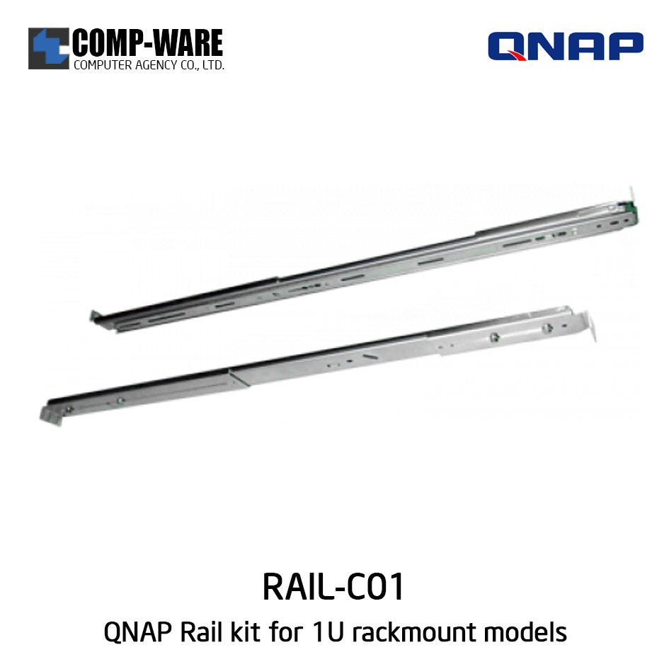 RAIL KIT (RAIL-C01) for 1U QNAP Rackmount models