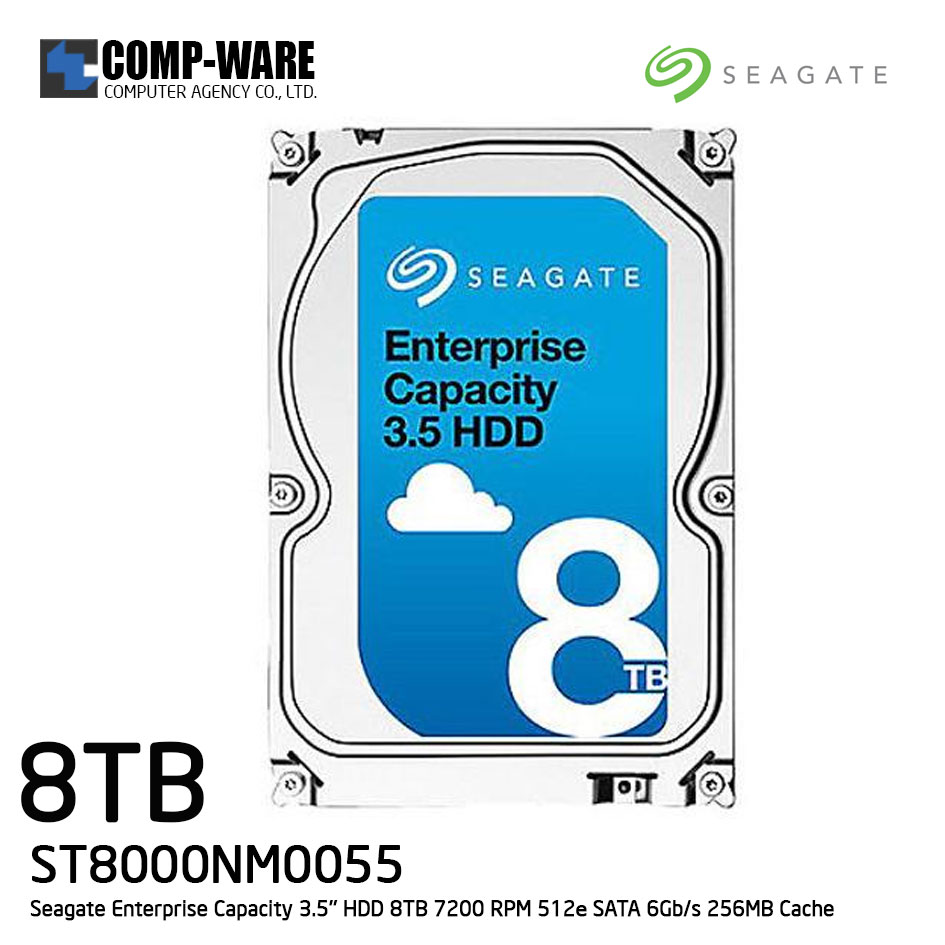 Seagate Enterprise Capacity 3.5'' HDD 8TB 7200RPM SATA 6Gb/s 256MB Cache Internal Hard Drive ST8000NM0055