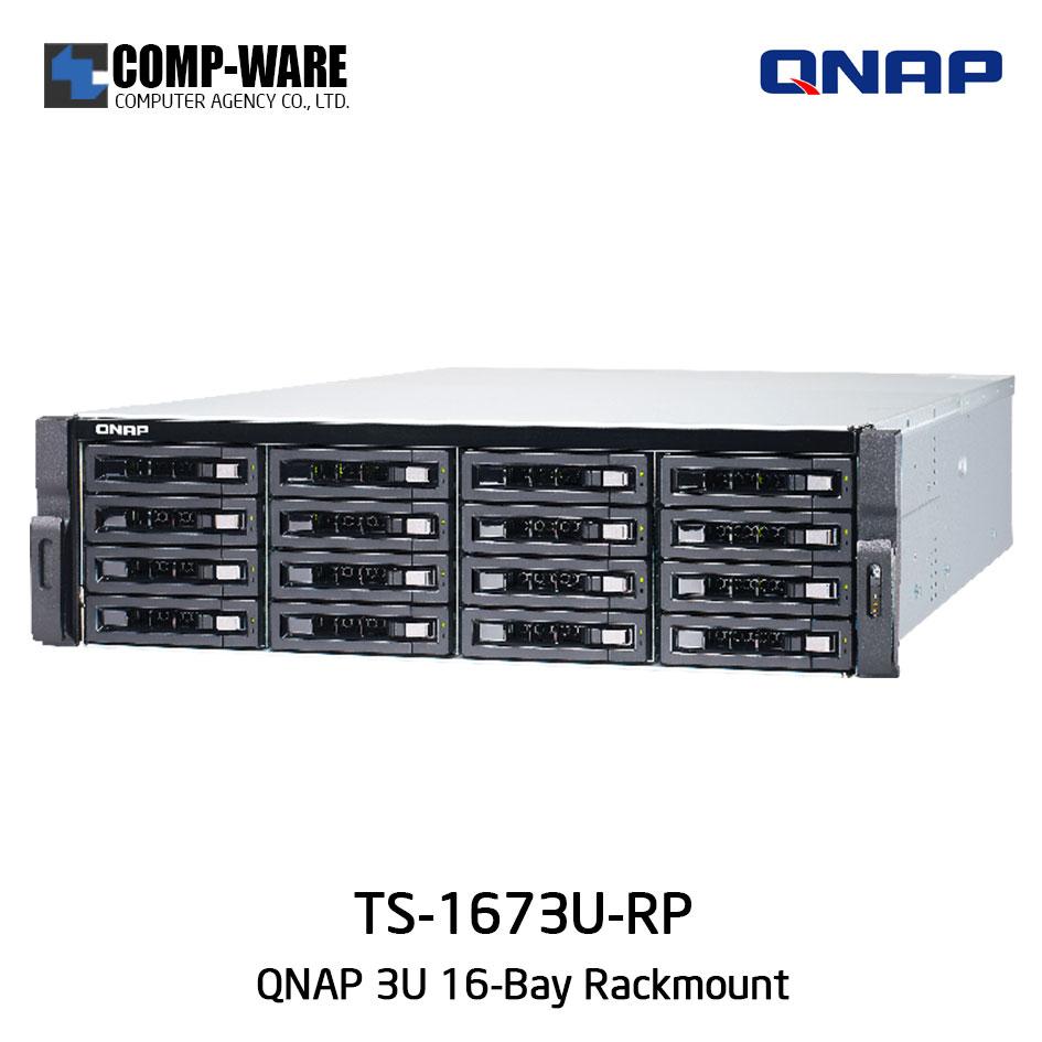 QNAP NAS (3U 16-Bay) TS-1673U-RP (8GB RAM) Redundant Power Supply