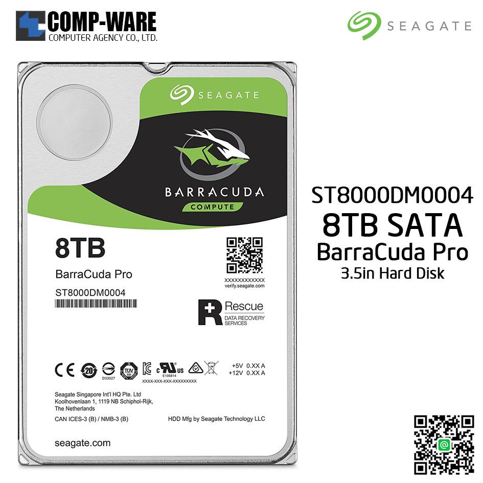 Seagate 8TB BarraCuda Pro SATA 6Gb/s 7200RPM 256MB Cache 3.5-Inch Internal Hard Drive (ST8000DM0004)