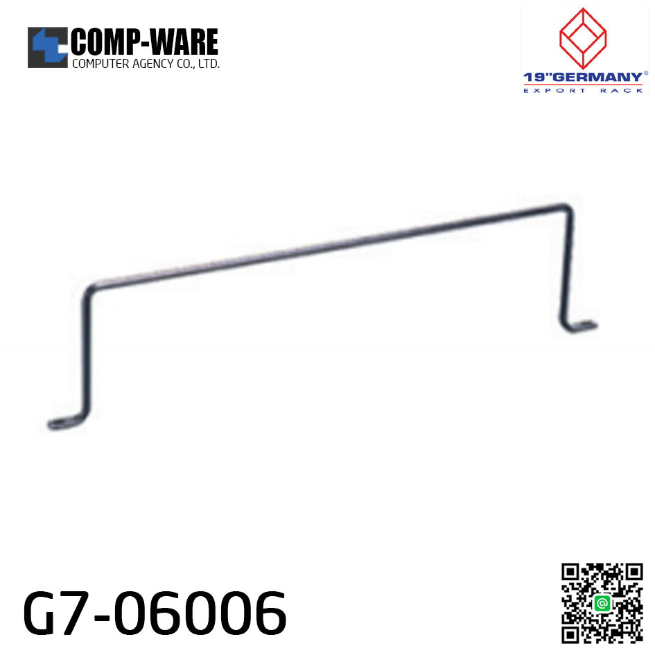 "19"" Germany Rack Accessories G7-06006 CABLE BACK SUPPORT BAR (แกนเหล็กจัดสายหลัง PATCH PANEL)"