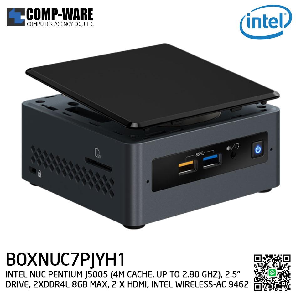 """Intel NUC7PJYH1 Mini PC NUC Kit - (PENTIUM J5005 (4M CACHE, UP TO 2.80 GHZ), 2.5"""" DRIVE, 2XDDR4L 8GB MAX, 2 X HDMI, INTEL WIRELESS-AC 9462) BOXNUC7PJYH1"""