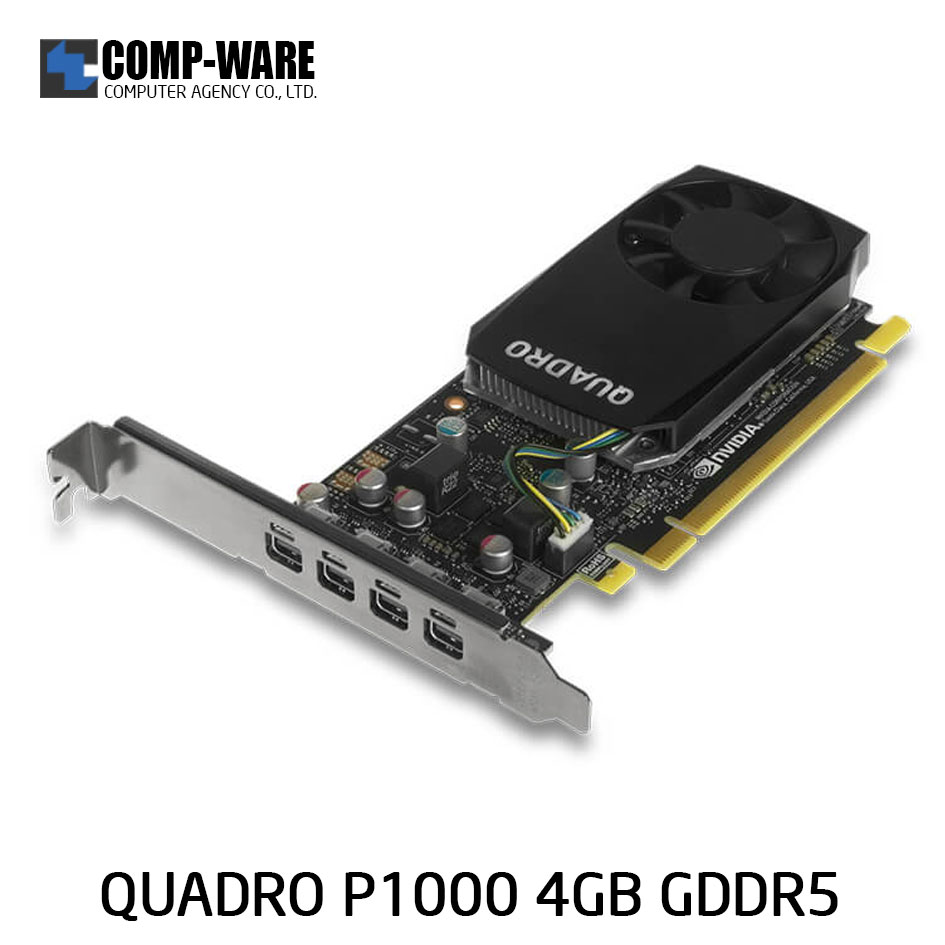 Leadtek Nvidia Quadro P1000 Workstation Graphics Card (ต่อออก 4 จอได้)