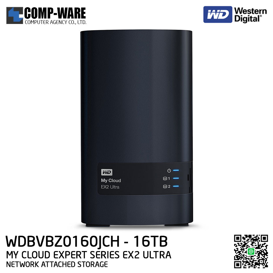 WD 16TB My Cloud Expert Series EX2 Ultra 2-Bay Network Attached Storage - WDBVBZ0160JCH-SESN