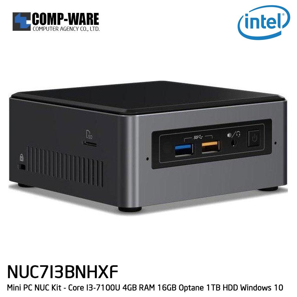 Intel NUC7I3BNHXF Mini PC NUC Kit - Core I3-7100U 4GB RAM 16GB Optane 1TB HDD Windows 10