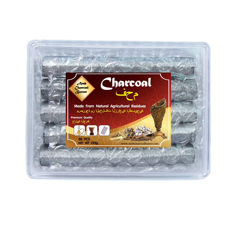Arab Charcoal Burner ถ่านพิเศษ ถ่านชาโคล สำหรับจุดไฟเผา ชิช่า บารากุ ทำจากธรรมชาติ 100% ไร้กลิ่น ไร้ควัน ไม่มีประกายไฟ ปลอดภัย ไร้สารเคมี จุดนานถึง 3 ชมต่อชิ้น - 1 กล่อง