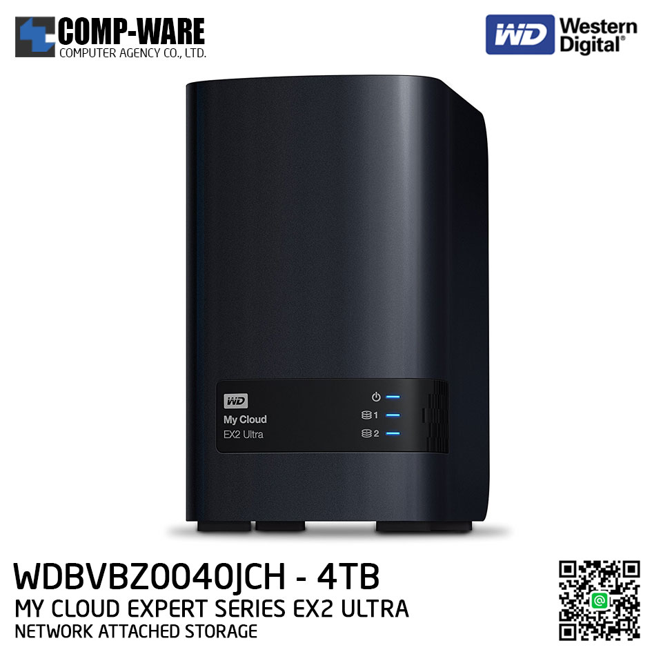 WD 4TB My Cloud Expert Series EX2 Ultra 2-Bay Network Attached Storage - WDBVBZ0040JCH-SESN