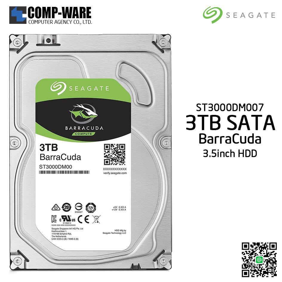 Seagate 3TB BarraCuda SATA 6Gb/s 5400RPM 256MB Cache 3.5-Inch Internal Hard Drive (ST3000DM007)