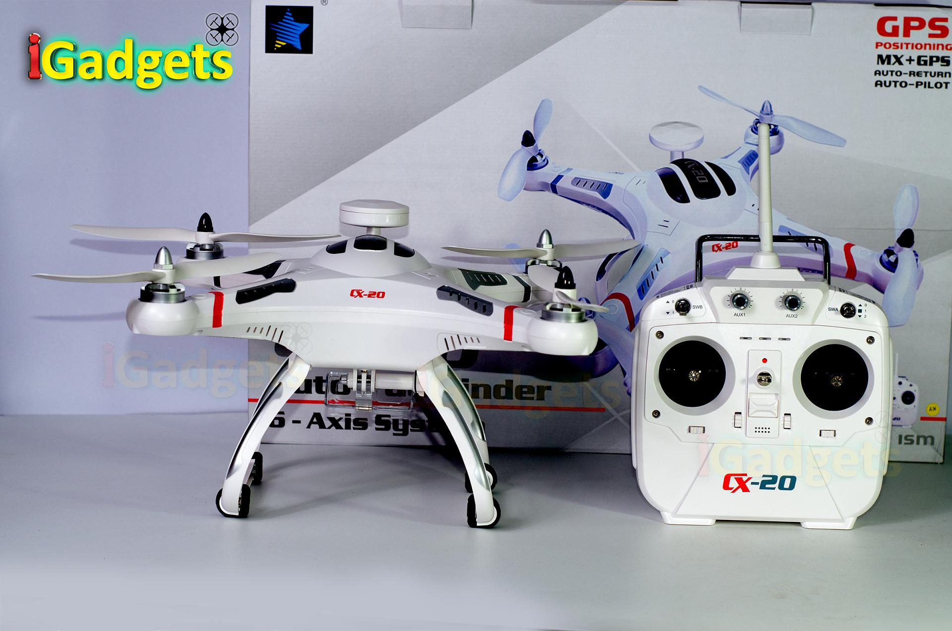 Cheerson CX-20 GPS Drone Auto Pilot , Return to Home (มีระบบบินอัตโนมัติ และสามารถบินกลับบ้านเองได้)
