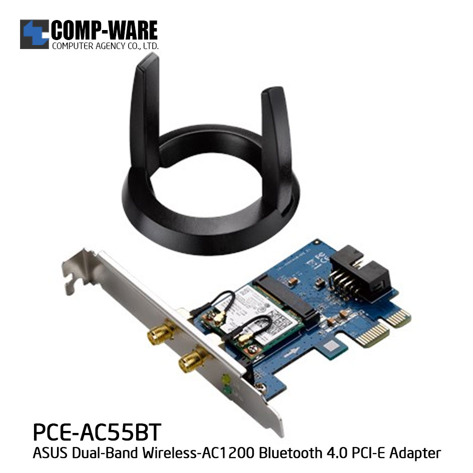 ASUS PCE-AC55BT Dual-Band Wireless-AC1200 Bluetooth 4.0 PCI-E Adapter สำเนา