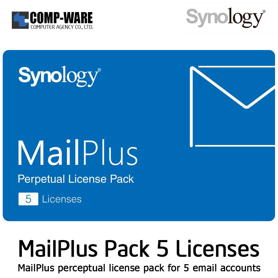 Synology MailPlus License Pack 5 (5 email accounts)
