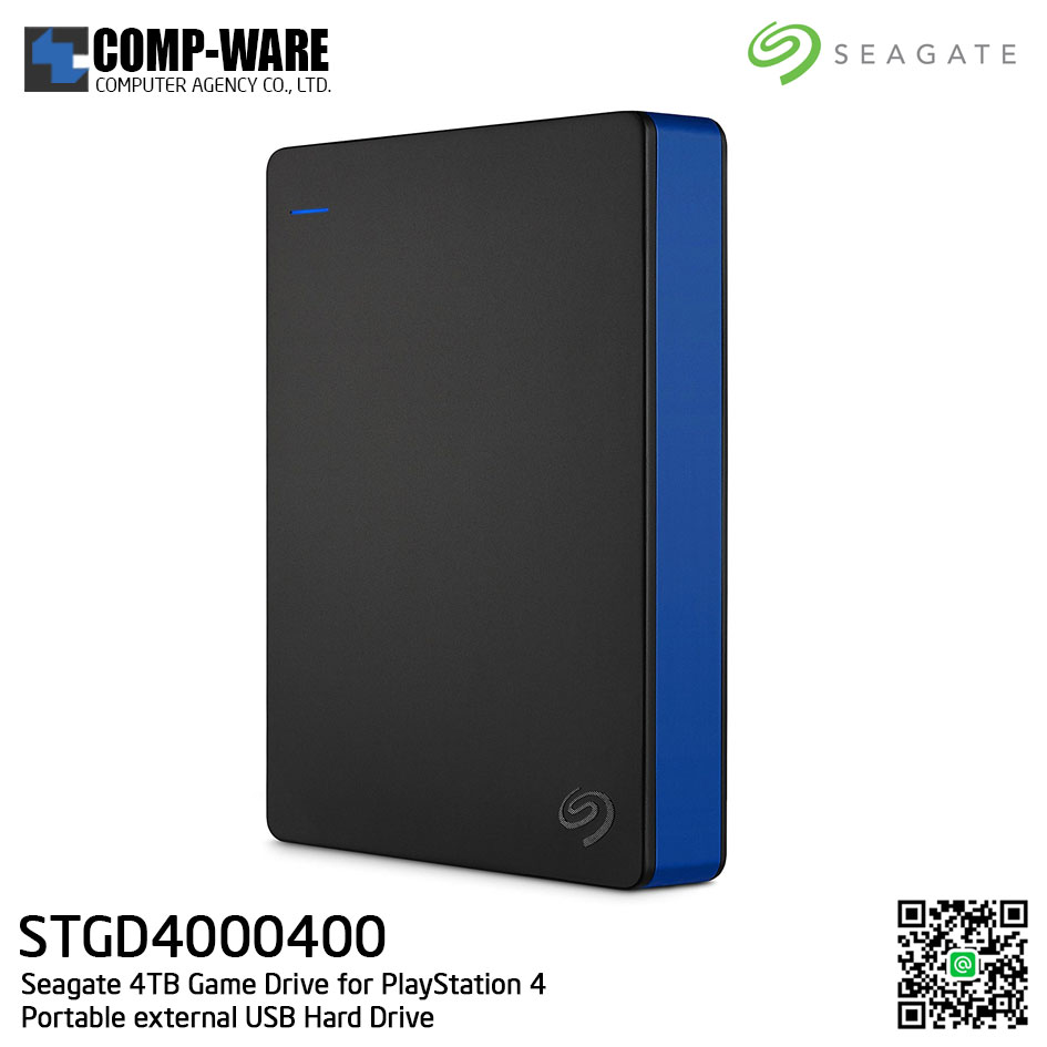 Seagate 4TB Game Drive for PlayStation 4 Portable External USB Hard Drive - STGD4000400