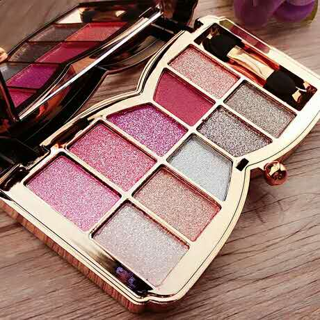 diamond shimmer eyeshadow palette so cute ไดมอนด์อายแชโดว์ พาเลทท์