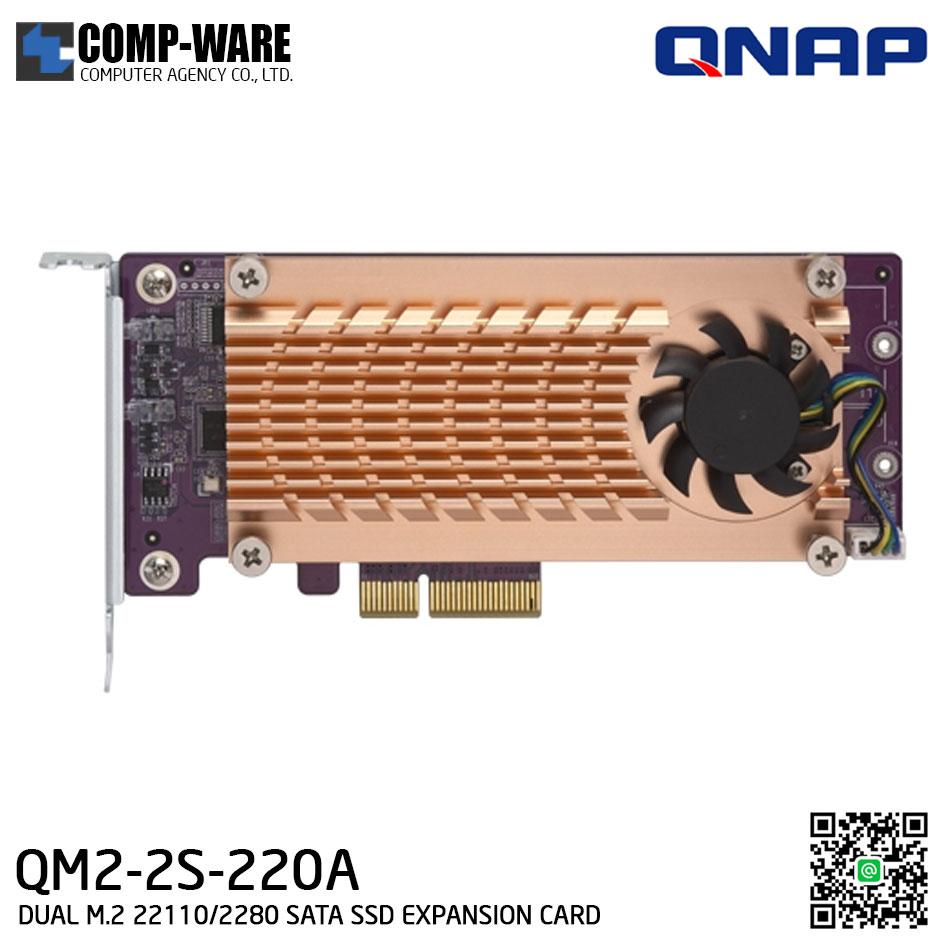 QNAP QM2-2S-220A QM2 Expansion Card (Add M.2 SSD Slots) PCI-Express