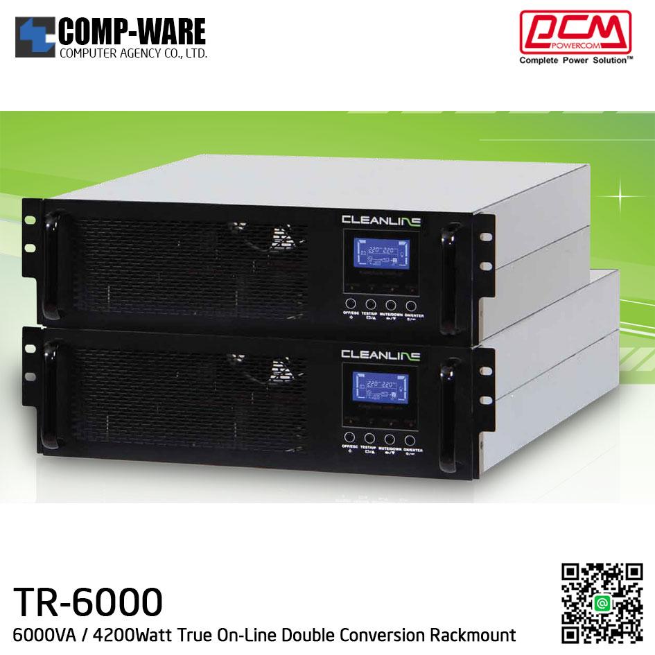 "PCM Cleanline UPS T Series (Rackmount 19"") 6000VA / 4200Watt True On-Line Double Conversion TR-6000"