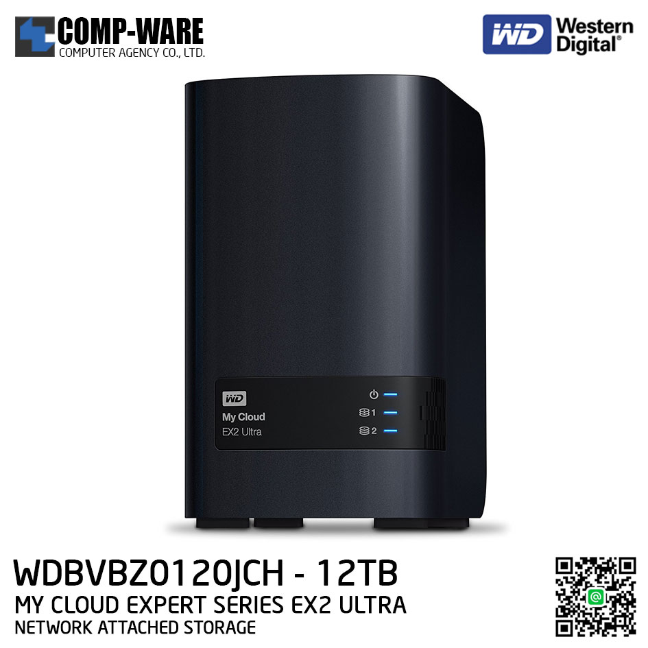 WD 12TB My Cloud Expert Series EX2 Ultra 2-Bay Network Attached Storage - WDBVBZ0120JCH-SESN