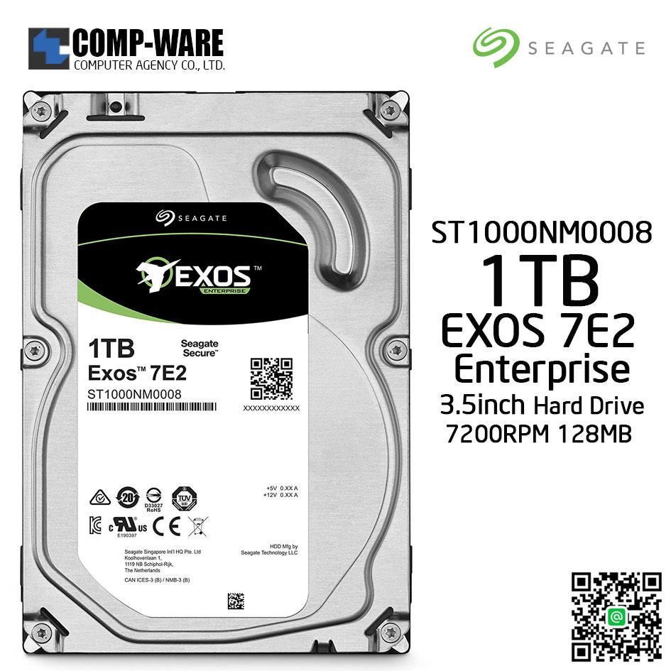 Seagate Exos 7E2 1TB SATA 6Gb/s 7200RPM 128MB Cache 3.5Inch Enterprise Hard Drive ST1000NM0008
