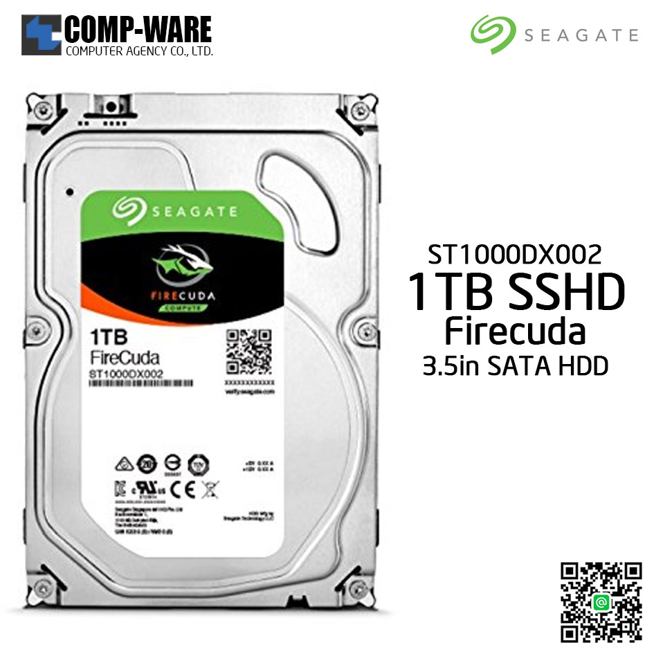 Seagate 1TB FireCuda Gaming SSHD (Solid State Hybrid Drive) - 7200 RPM SATA 6Gb/s 64MB Cache 3.5-Inch Hard Drive (ST1000DX002)