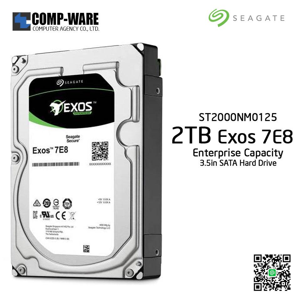 Seagate Exos 7E8 2TB SATA 6Gb/s 7200RPM 128MB Cache 3.5Inch Enterprise Hard Drive ST2000NM0125