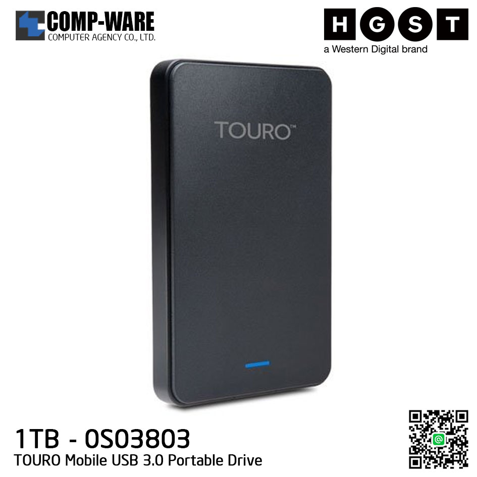 HGST TOURO Mobile USB 3.0 1TB Portable Drive (0S03803)