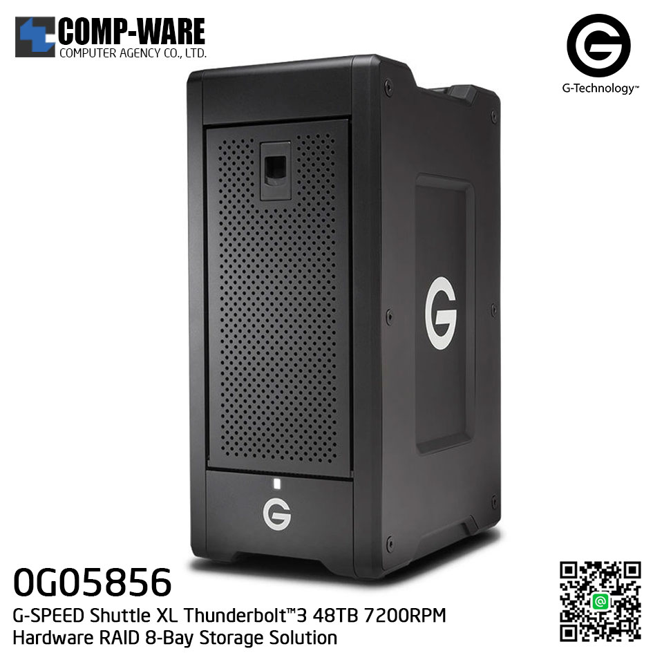 G-Technology G-SPEED Shuttle XL Thunderbolt™3 48TB 7200RPM Hardware RAID 8-Bay Storage Solution - 0G05856