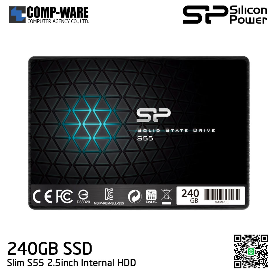 Silicon Power S55 240GB 7mm SATA 6Gb/s 2.5inch Internal Solid State Drive SP240GBSS3S55S25