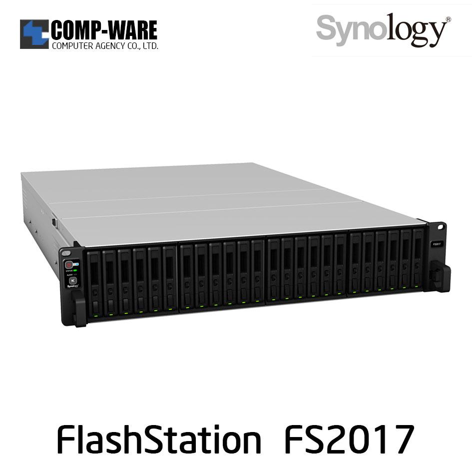 Synology FlashStation (2U 24-Bay 2.5inch) FS2017 (16GB ECC RDIMM RAM) - Rail Kit (Not Included)