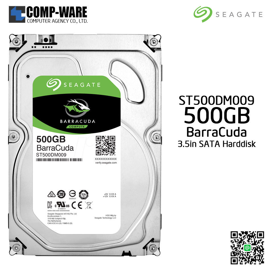 Seagate 500GB BarraCuda SATA 6Gb/s 7200RPM 32MB Cache 3.5-Inch Internal Hard Drive (ST500DM009)