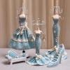 Abocos Dress Jewelry Hanging ตุ๊กตาแขวนเครื่องประดับ ชุดเดรทสีฟ้า