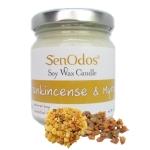 SenOdos เทียนหอม อโรม่า Frankincense & Myrrh Scented Soy Candle Aroma 190 g - กลิ่นกำยาน & มดยอบ