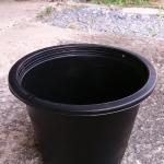 กระถางพลาสติกดำ ขนาด 8 นิ้ว จำนวน 10ใบ