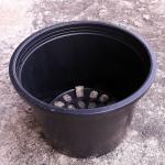 กระถางพลาสติกดำ ขนาด 6 นิ้ว จำนวน 10ใบ