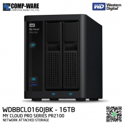 WD 16TB My Cloud Pro Series PR2100 2-Bay Network Attached Storage - WDBBCL0160JBK-SESN