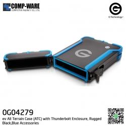 G-Technology ev All Terrain Case with Thunderbolt Black,Blue Accessories - 0G04279