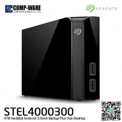 "Seagate External HDD 4TB STEL4000300 BACKUP PLUS HUB DESKTOP (BLACK) 3.5"" ประกัน 3ปี"