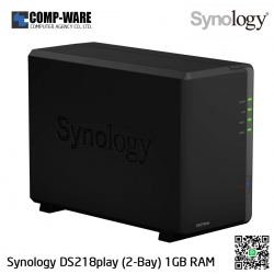 Synology DiskStation (2-Bay) DS218play (1GB DDR4 RAM)