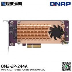 QNAP QM2-2P-244A QM2 Expansion Card (Add M.2 SSD Slots) PCI-Express