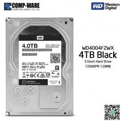 WD Black 4TB Performance Desktop Hard Disk Drive 7200RPM SATA 6Gb/s 128MB Cache 3.5 Inch - WD4004FZWX