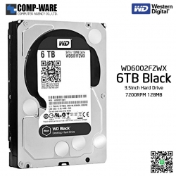 WD Black 6TB Performance Desktop Hard Disk Drive 7200RPM SATA 6Gb/s 128MB Cache 3.5 Inch - WD6002FZWX