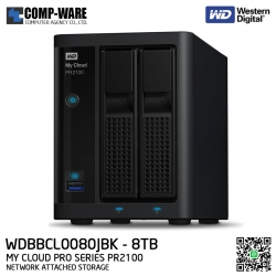 WD 8TB My Cloud Pro Series PR2100 2-Bay Network Attached Storage - WDBBCL0080JBK-SESN
