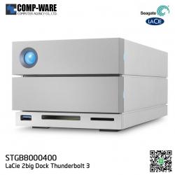 Seagate LaCie 2Big Dock Thunderbolt 3 8TB 7200RPM Professional Dual-Disk Hardware RAID STGB8000400